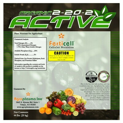 Ferticell Organic Active 2-20-2 44 pound