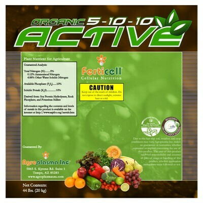 Ferticell Organic Active 5-10-10 44 pound
