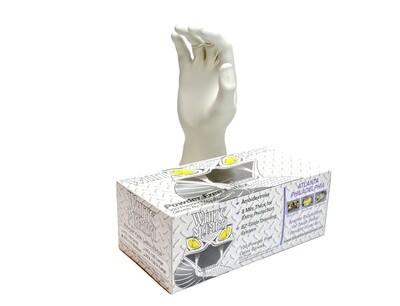 Mamba White No Powder Natural Latex Rubber Gloves 8 millimeter 100/ box