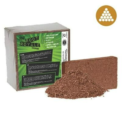 Root Royale Cocopure RHP Certified Low EC Aged and Washed Compressed Coco Brick 2 cubic foot 5 kilogram