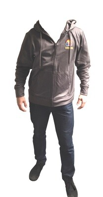 Sustainable Hydroponics & Organic Garden Supply Super Fly Silver Zip-Up Hoodie