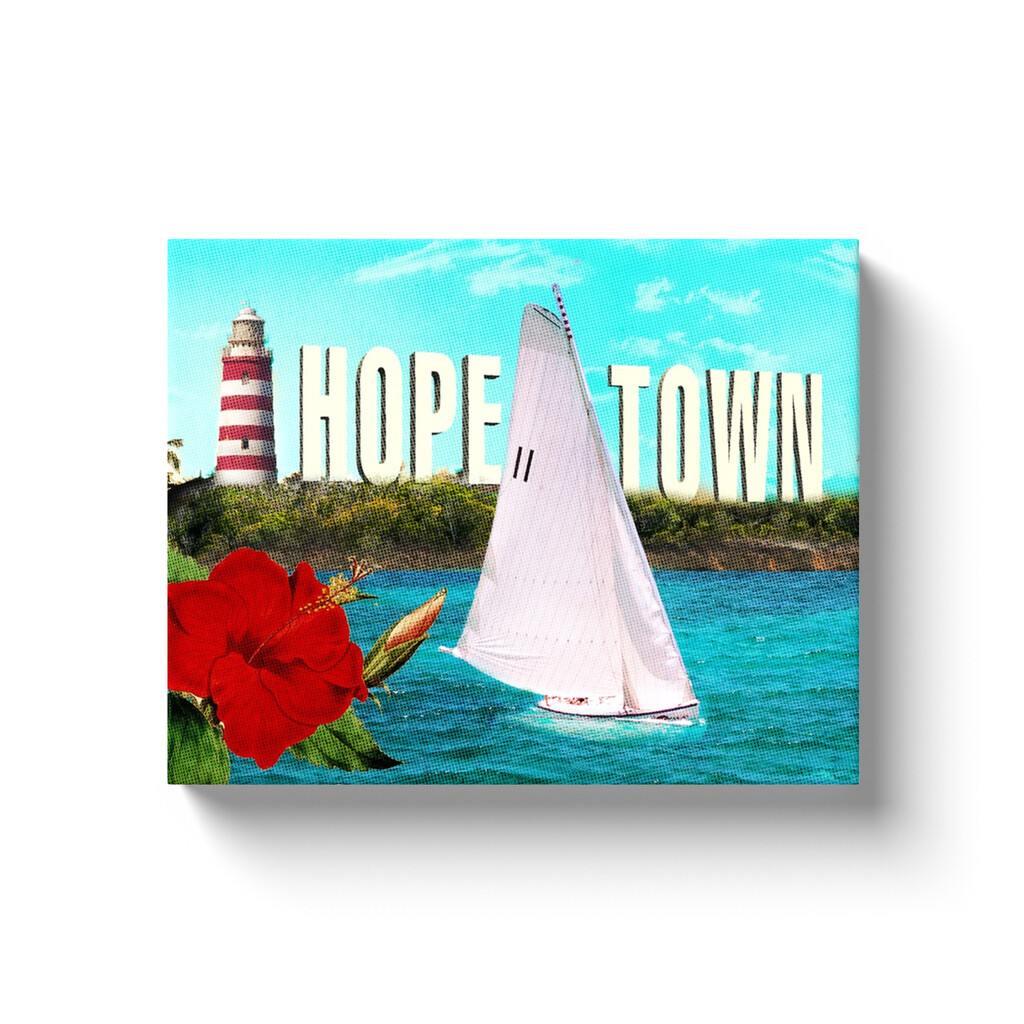 """""""Ode"""" to Hope Town 11x14 Wrapped Canvas Print"""