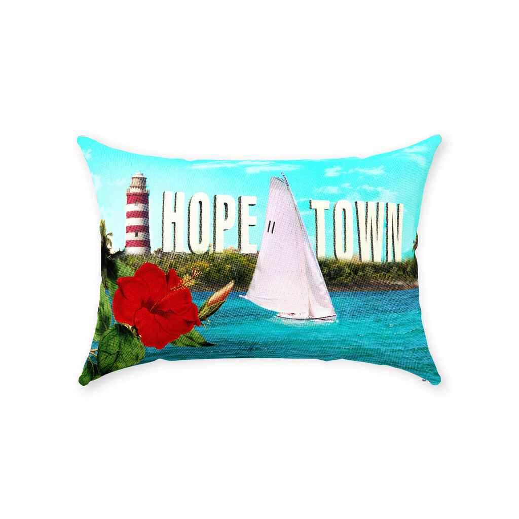 Ode' to Hope Town Throw Pillow