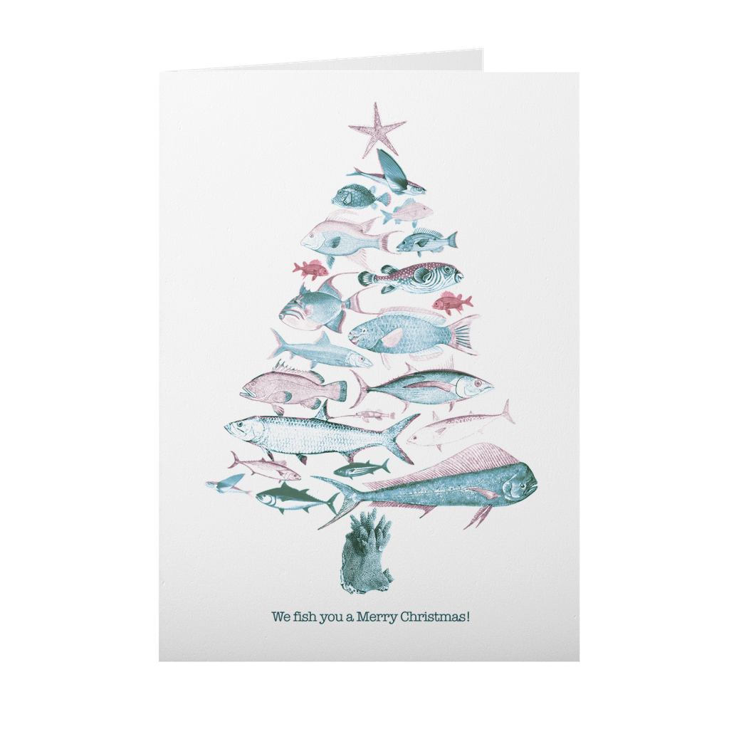 """""""Fish"""" You a Merry Christmas Cards 10 Pack"""
