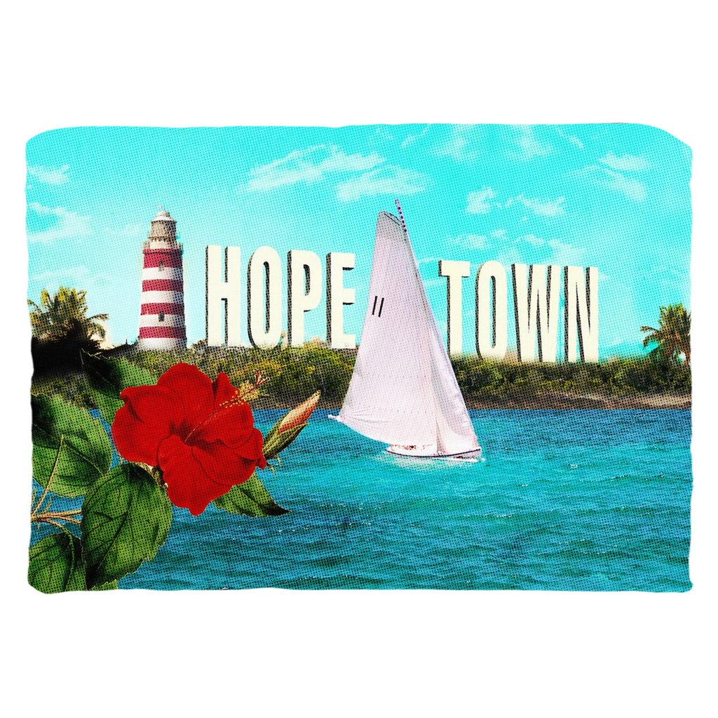 Ode' to Hope Town Zippered Pillow Cover