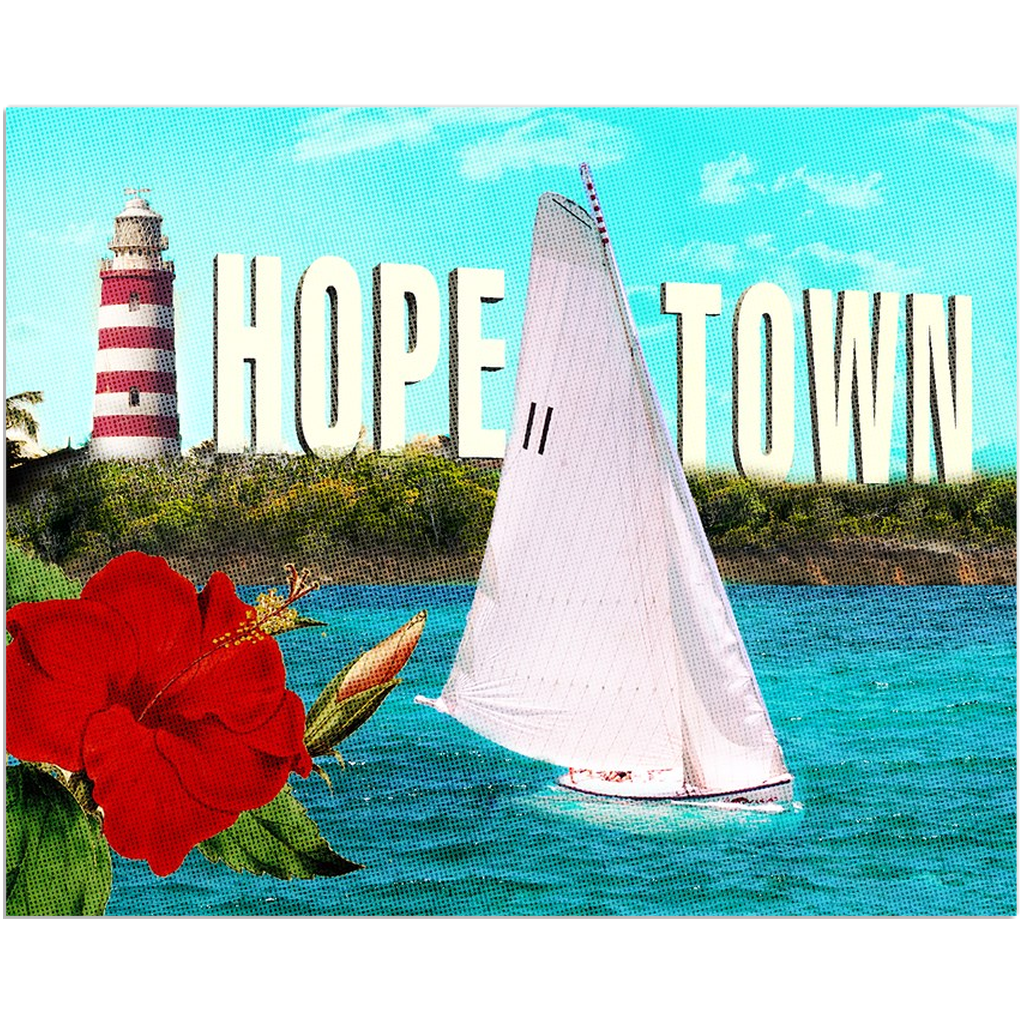 """Ode"" to Hope Town Canvas Mini 8x10"