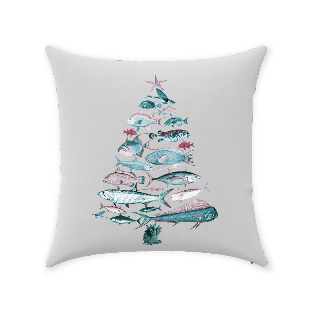 """Fish-Mas"" Tree Pillow"