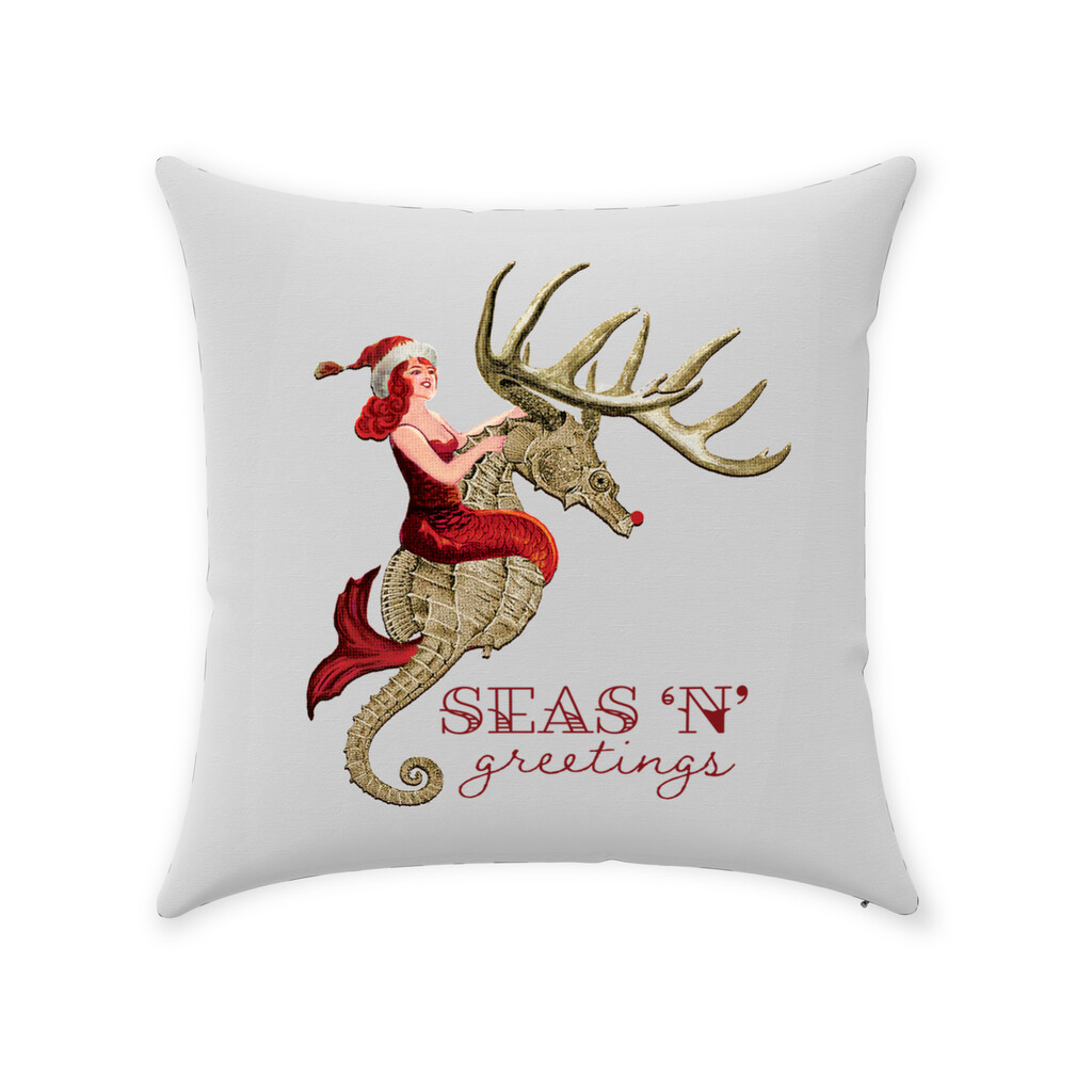 Seas 'N' Greetings Throw Pillow