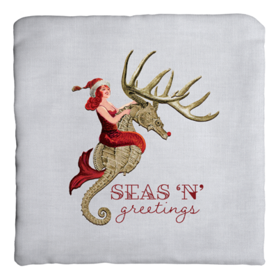Seas 'N' Greetings Zippered Pillow Cover