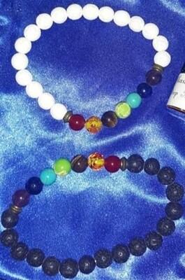Chakra Lava Bead Diffuser Bracelet