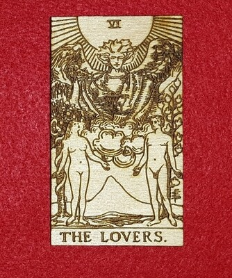 Engraved Wooden Tarot Card - 2