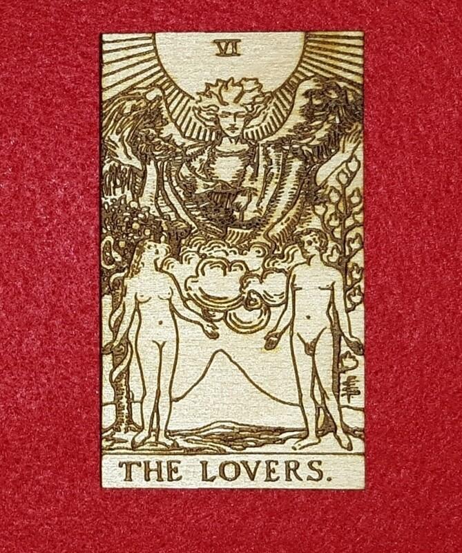 Engraved Wooden Tarot Card - 2