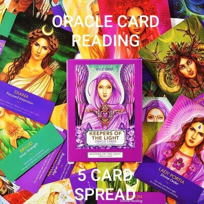 Akasha Zamora Oracle Card Reading - 5 Card Spread