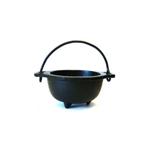 "Cast Iron Cauldron w/ Handle 5"""