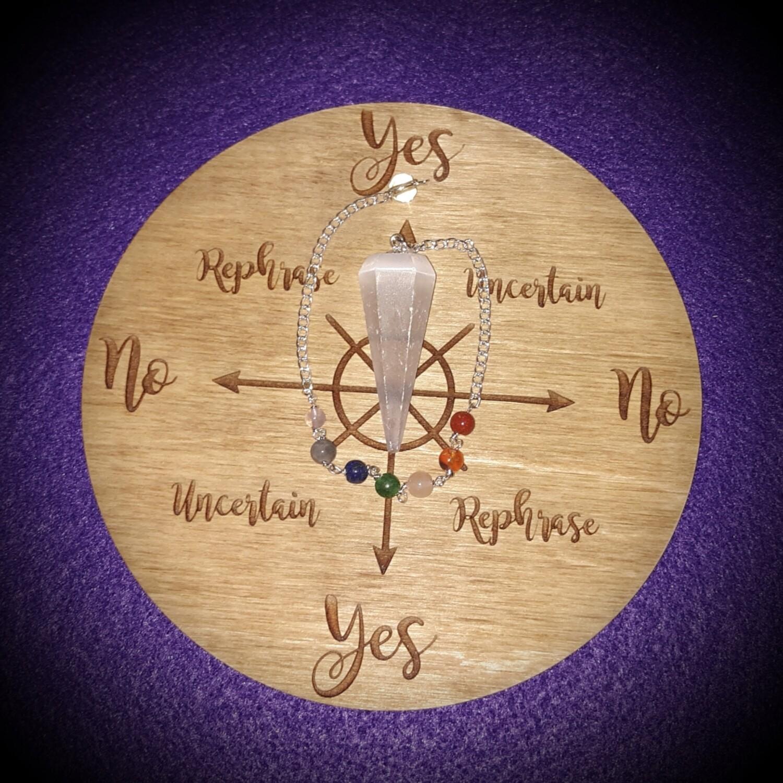 Medium Pendulum Board & Selenite Pendulum Set