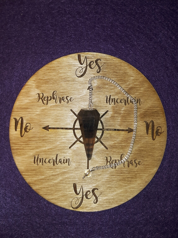 Medium Pendulum Board & Multi Fluorite Pendulum Set