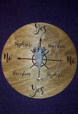 Medium Pendulum Board & Rainbow Moonstone Pendulum Set