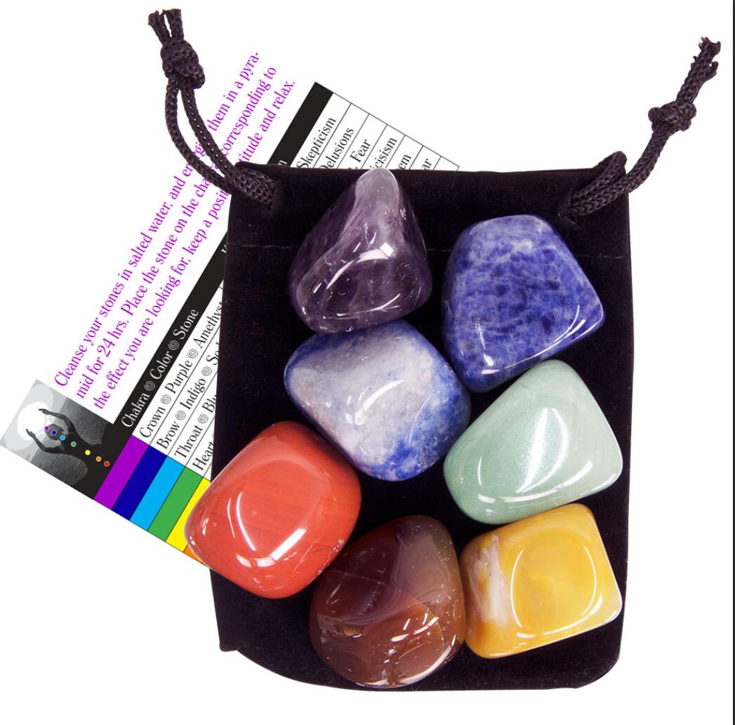 Chakra Tumbled Stones Kit