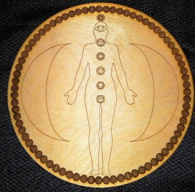 Chakra Energy Body Grid with DNA Border