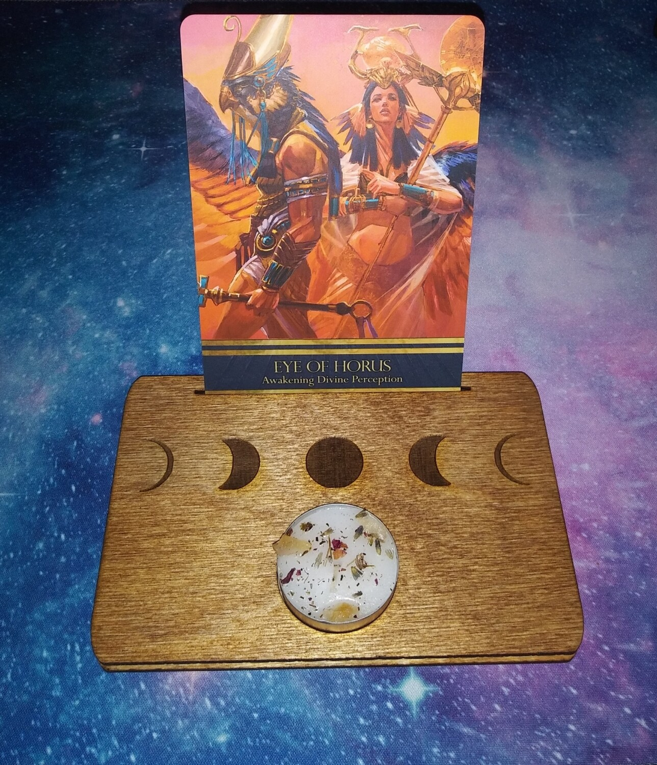 Moon Phase Card and Candle Display Stand