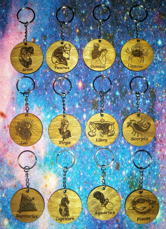 Zodiac Sign Keychain