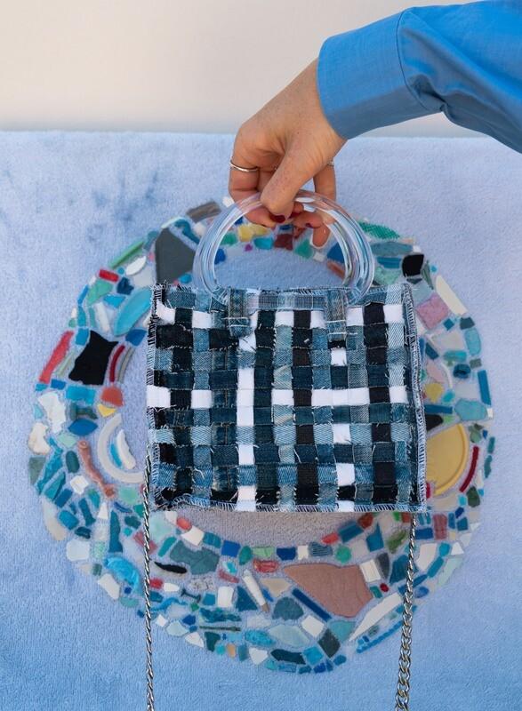 Denim Zero Waste Mini Bag Collab X Ariela Kader