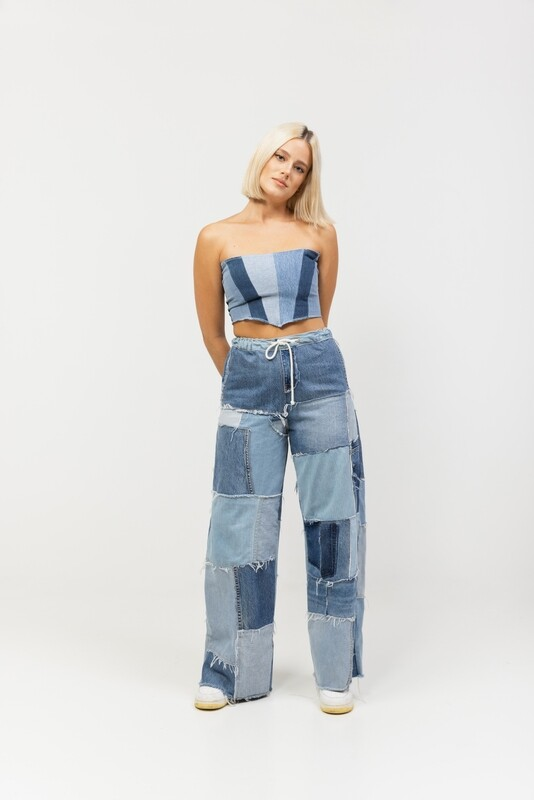 The Denim Patchwork Pants (Made to Order)