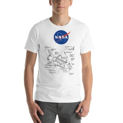 NASA Shirt with Space Shuttle Blue-print - Short-Sleeve Unisex T-Shirt