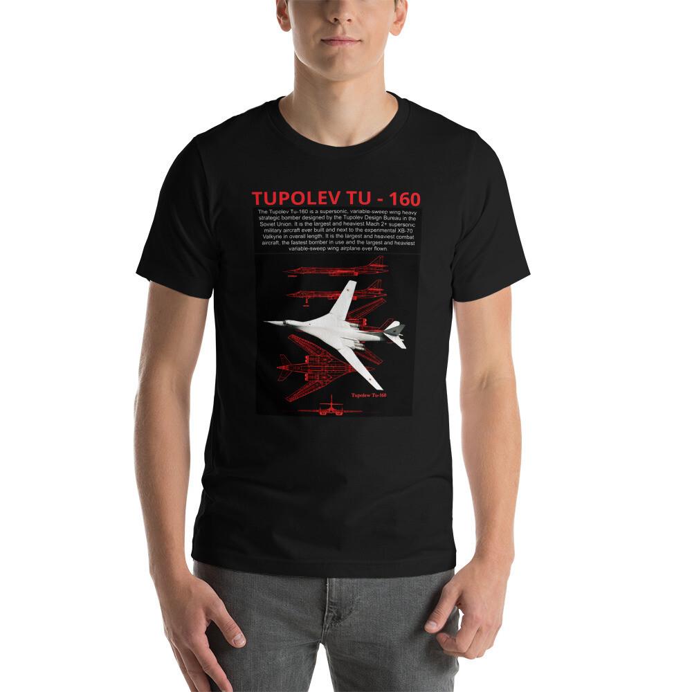 Tupolev TU - 160, Short-Sleeve Unisex T-Shirt, Russian Supersonic Bomber