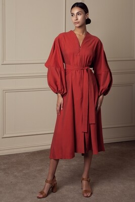 Cattia yoke dress