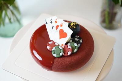 Mirror Glaze/Chocolate Dust Cake - Customized Design