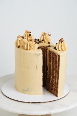 Chocolate Caramel Hazelnut Cake