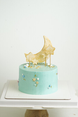 Moon and Back Baby Cake