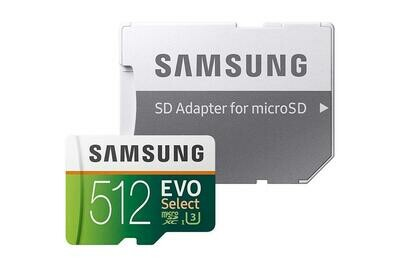 New Authentic Samsung EVO Select 512GB Micro sd card.Also free Offer Below.