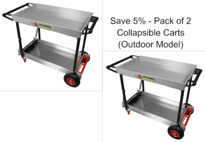 Collapsible Cart (Outdoor Model) (Pack of 2) (Save 5%)