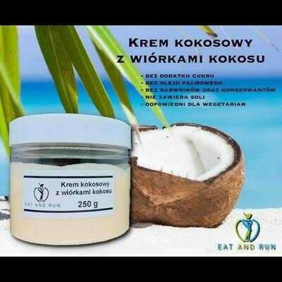 Krem kokosowy z wiórkami kokosu