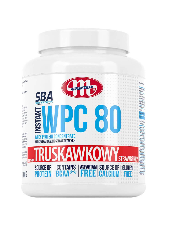 Koncentrat białek serwatkowych WPC 80 -  truskawkowy