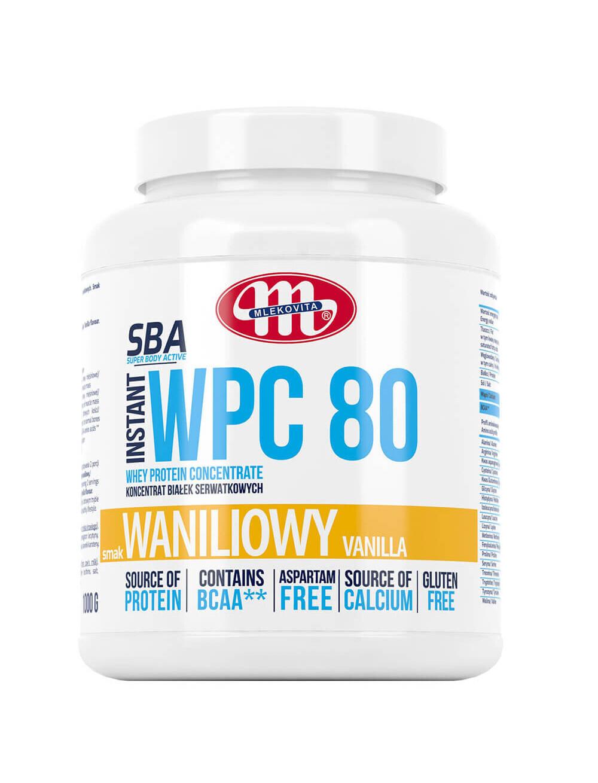 Koncentrat białek serwatkowych WPC 80 -  waniliowy