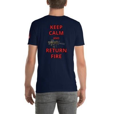 KEEP CALM 1 Short-Sleeve Unisex T-Shirt