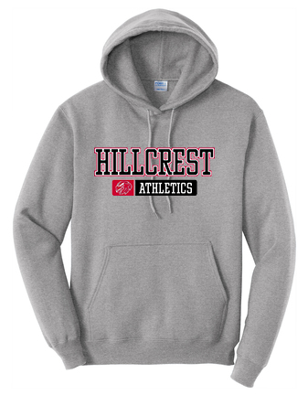HILLCREST Middle School-Port & Company Core Fleece Pullover Hooded Sweatshirt - Available in RED, BLACK, and ATHLETIC HEATHER