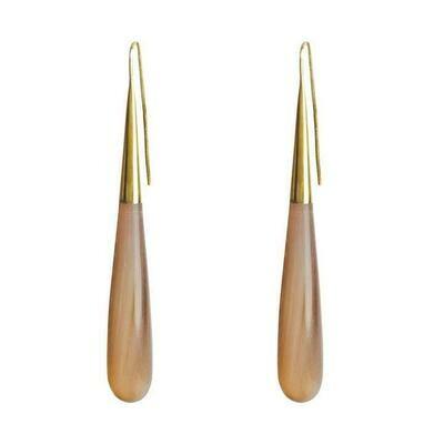 SOKO Horn Pia Threader  / gold & natural