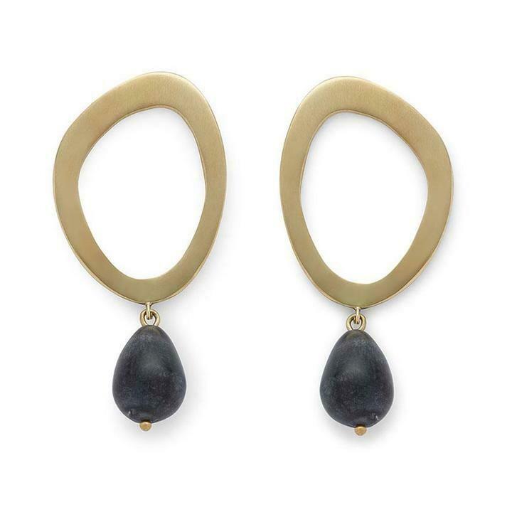 SOKO Sabi Pearl Drop / gold & black