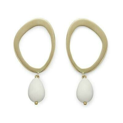 SOKO Sabi Pearl Drop  / gold & white