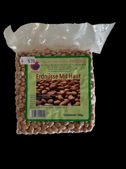 Erdnüsse mit Haut 500g