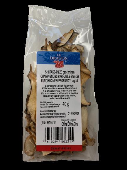 Sliced Shiitake Mushrooms 40g