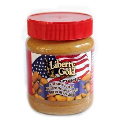 Peanut Butter Crunchy Liberty Gold 350g