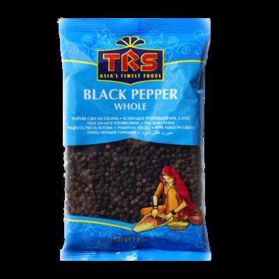 Schwarze Pfefferkörner ganz / Black Pepper Whole TRS 100g