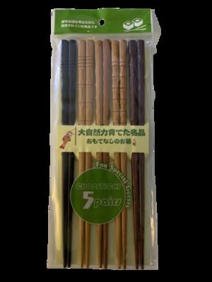 Chopsticks Japanese Style 5 Pairs