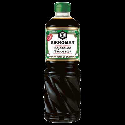 Soy Sauce  Kikkoman 1Liter Green Label (43% weniger Salz)