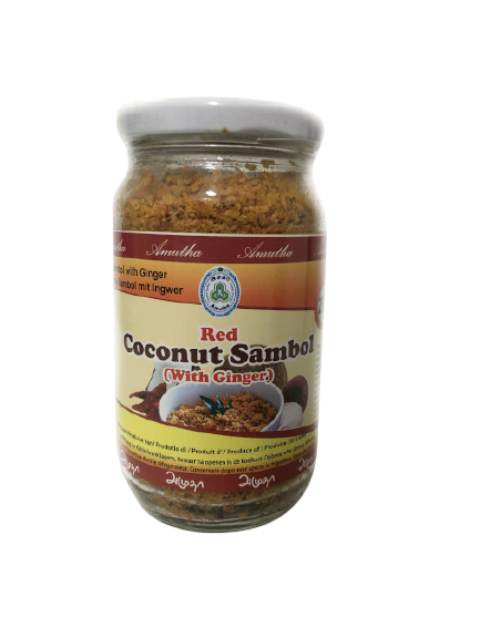 Red Coconut Sambol with Ginger 250g